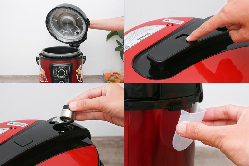 An toàn sử dụng - Nồi áp suất điện đa năng Sunhouse SHD1669