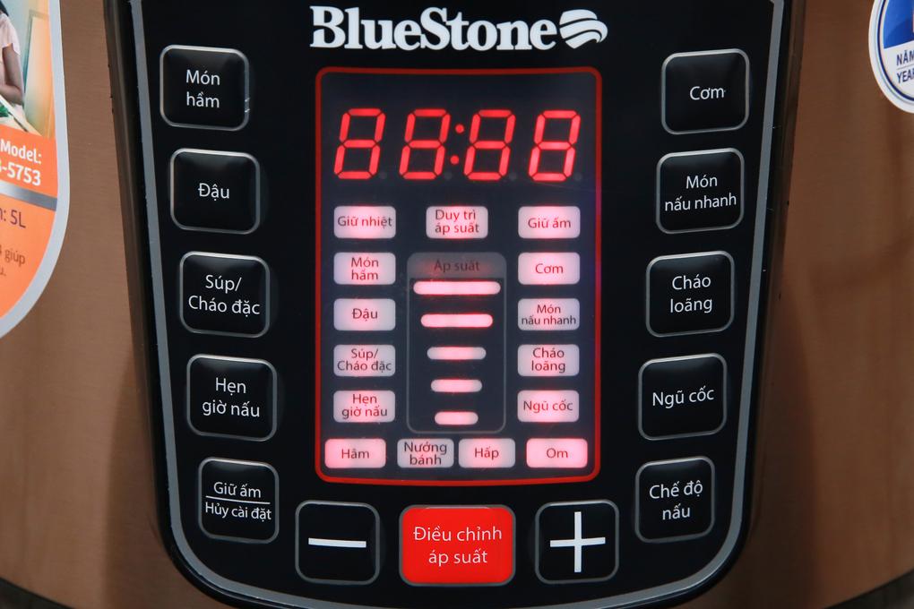 Bảng điều khiển nút nhấn điện tử hiện đại - Nồi áp suất điện Bluestone PCB-5753 5 lít