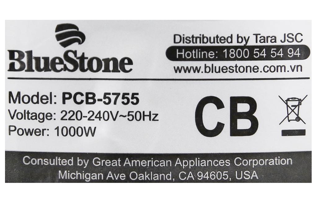 Nồi áp suất Bluestone PCB-5755 - Công suất hoạt động 1000W