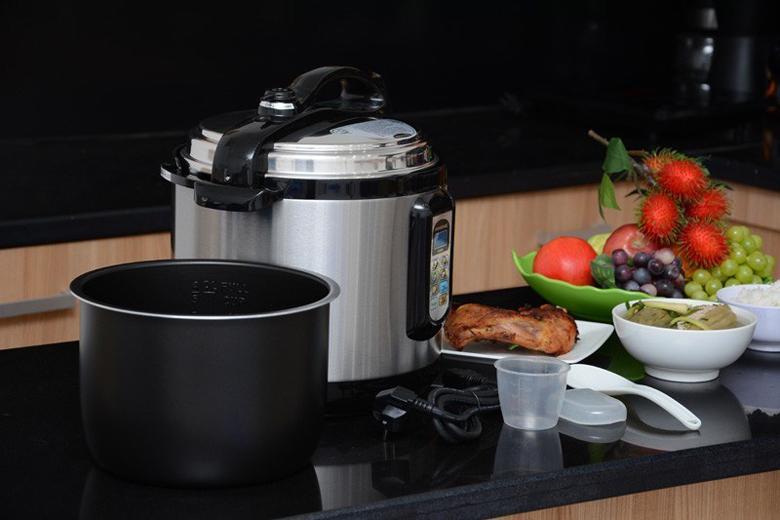 Dung tích 6 lít rộng rãi nấu nhiều hơn trong 1 lần nấu