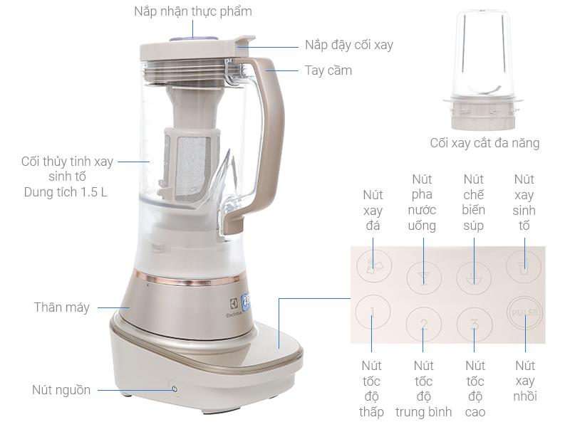 Thông số kỹ thuật Máy xay sinh tố Electrolux E7TB1 84SM