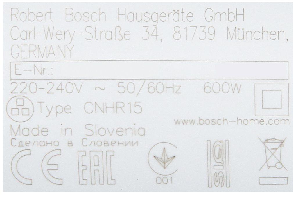 Công suất - Máy xay cầm tay Bosch HMH.MSM26130