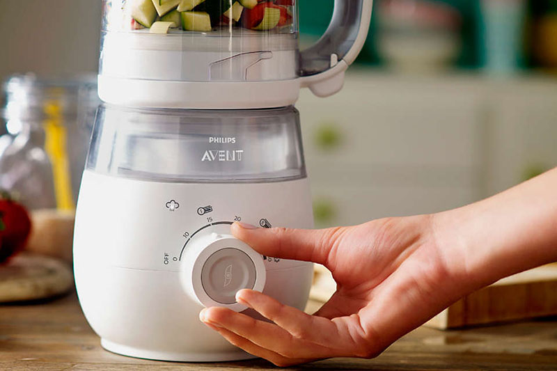 Điều chỉnh chế độ đơn giản - Máy hấp và xay thức ăn SCF875/02 Philips Avent