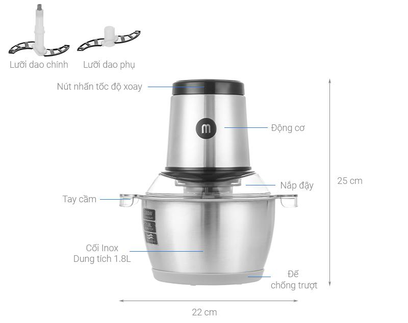 Thông số kỹ thuật Máy xay thịt Mishio MK-157