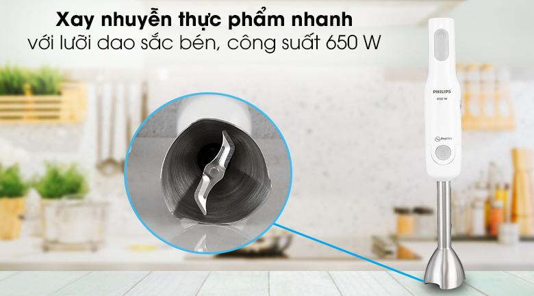 Máy xay sinh tố cầm tay Philips HR2534 - Động cơ mạnh mẽ với công suất 650 W