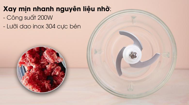 Máy xay thịt Midea MJ-BC200G - Xay mịn các nguyên liệu nhanh chóng