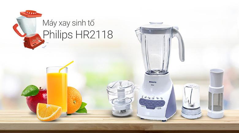 Máy Xay Sinh Tố Philips HR2118 - Hàng Nhập Khẩu