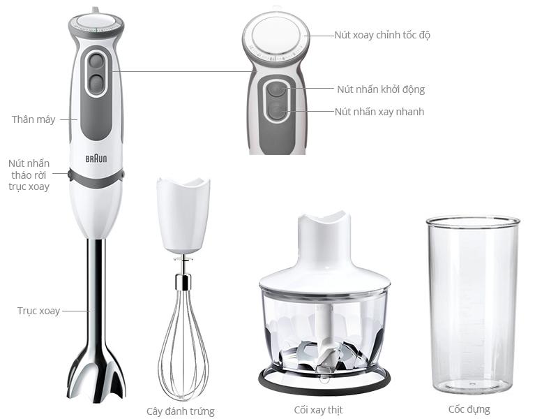 Thông số kỹ thuật Máy xay sinh tố Braun MQ 5035 Sauce Vario