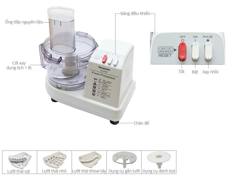 Thông số kỹ thuật Máy xay sinh tố đa năng Panasonic MK-5076MWRA