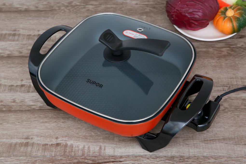 Thiết kế hiện đại, màu cam bắt mắt - Nồi lẩu điện Supor H30FK802VN-136 5 lít