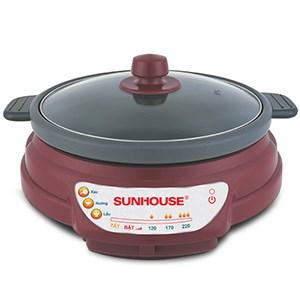 Nồi lẩu điện Sunhouse SH-535L Nâu 3.5 lít 3.5 lít