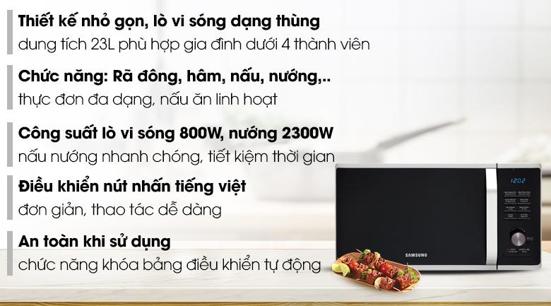 Lò vi sóng Samsung MG23K3575AS/SV-N 23 lít