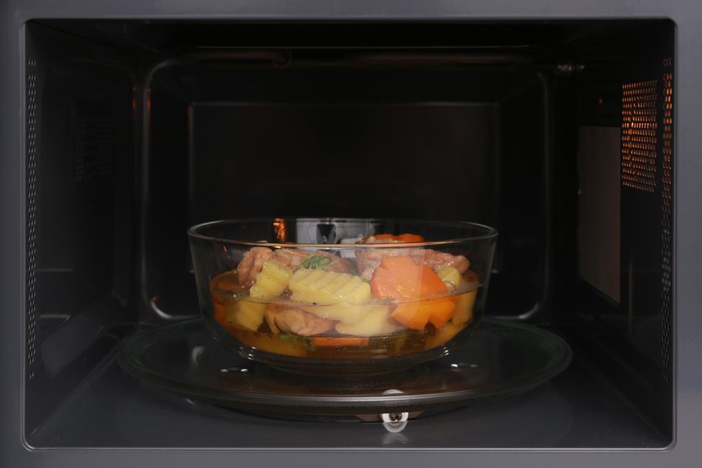 Chức năng nấu, hâm nóng, rã đông, nướng, nhiều thực đơn tự động - Lò vi sóng Midea MMO-25AY73 25 lít