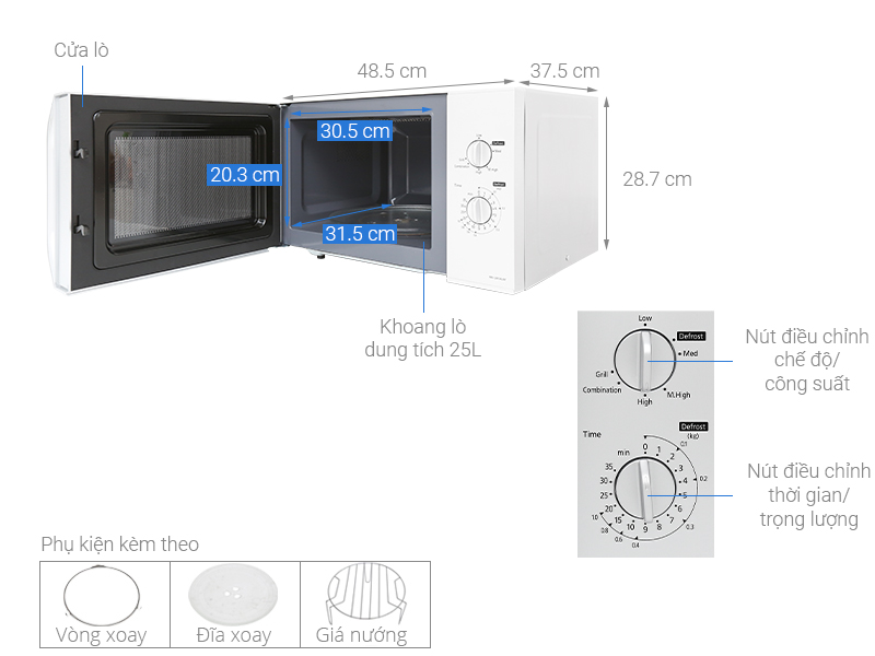 Thông số kỹ thuật Lò vi sóng Panasonic NN-GM34JMYUE