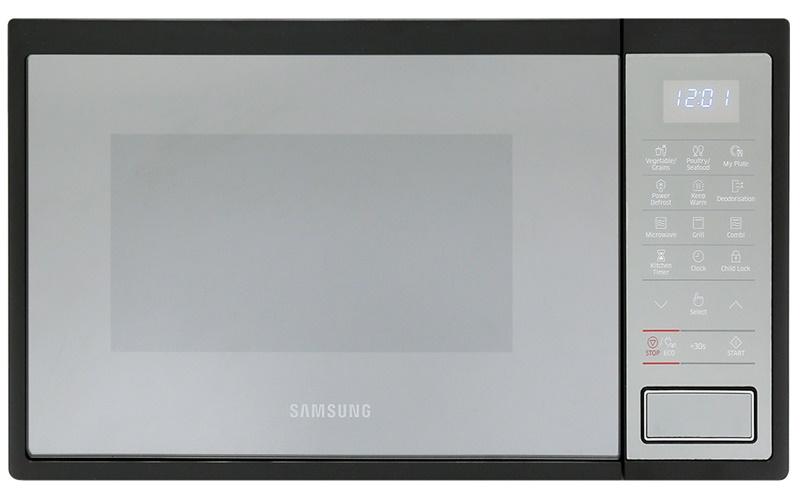 Sang trọng, thời thương với chất liệu thép không gỉ bóng loáng - Lò vi sóng Samsung MG23J5133AM/SV-N