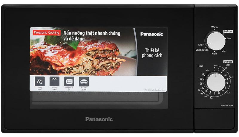 Màu đen hiện đại, trang nhã, dung tích nhỏ gọn 10 lít - Lò vi sóng Panasonic NN-GM24JBYUE 20 lít