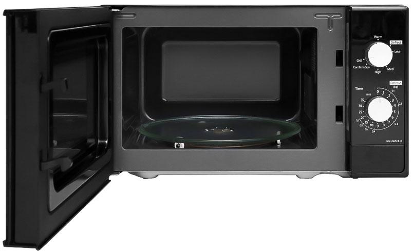 Khoang lò bằng thép không gỉ sáng bóng - Lò vi sóng Panasonic NN-GM24JBYUE 20 lít