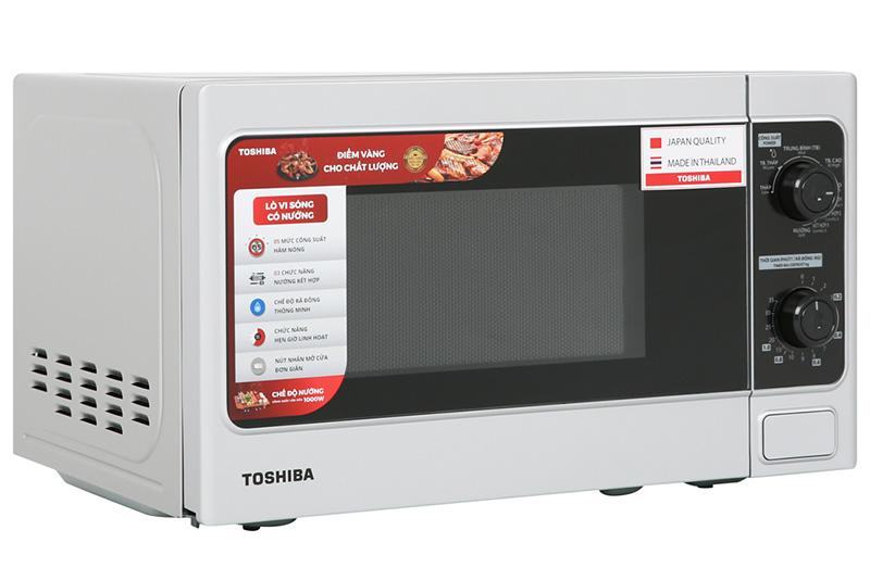 Nhỏ gọn, tinh tế - Lò vi sóng Toshiba ER-SGM20(S1)VN 20 lít