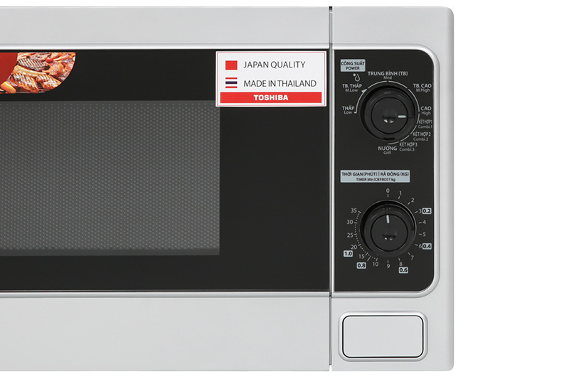 Đơn giản, dễ dùng - Lò vi sóng Toshiba ER-SGM20(S1)VN 20 lít
