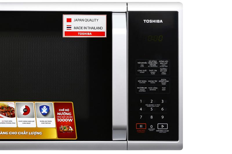 Nhiều tiện ích nấu nướng - Lò vi sóng Toshiba ER-SGS23(S1)VN 23 lít