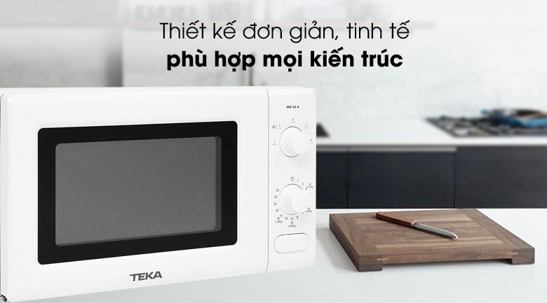Thiết kế - Lò vi sóng TEKA MM 20 A BLANCO 20 lít