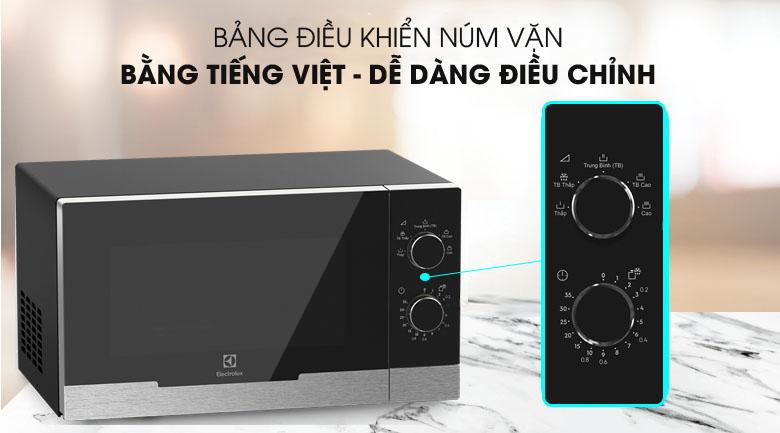 Bảng điều khiển núm vặn - Lò vi sóng Electrolux EMM23KI9EBP 23 lít