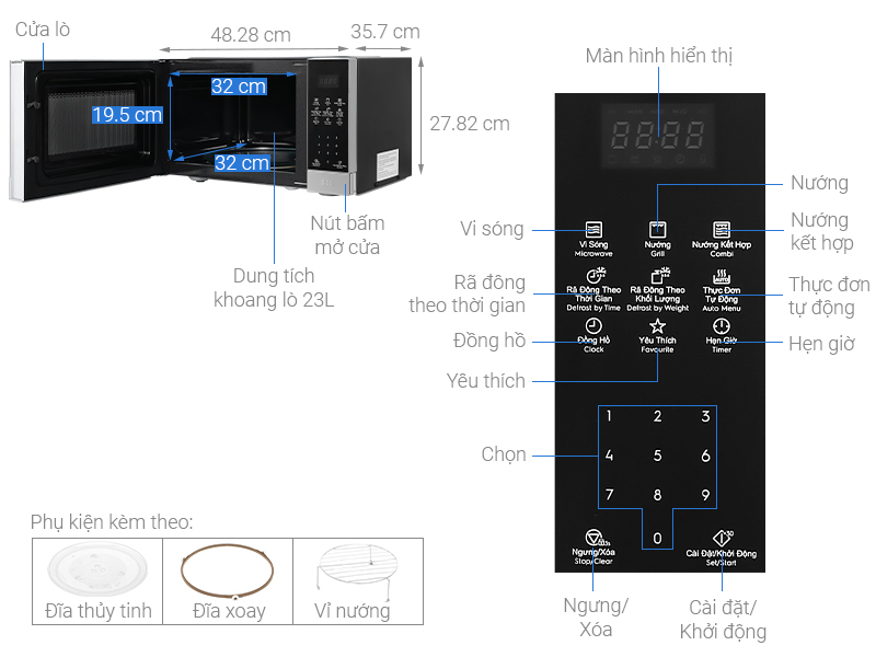 Lò vi sóng Electrolux EMG23DI9EBP 23 lít