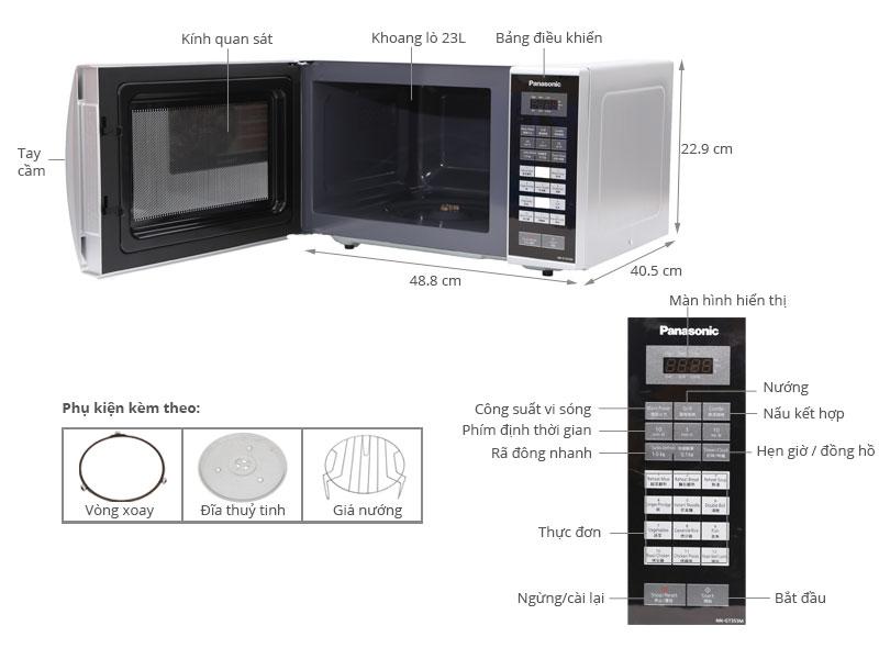 Thông số kỹ thuật Lò vi sóng Panasonic PALM-NN-GT353MYUE 23 lít