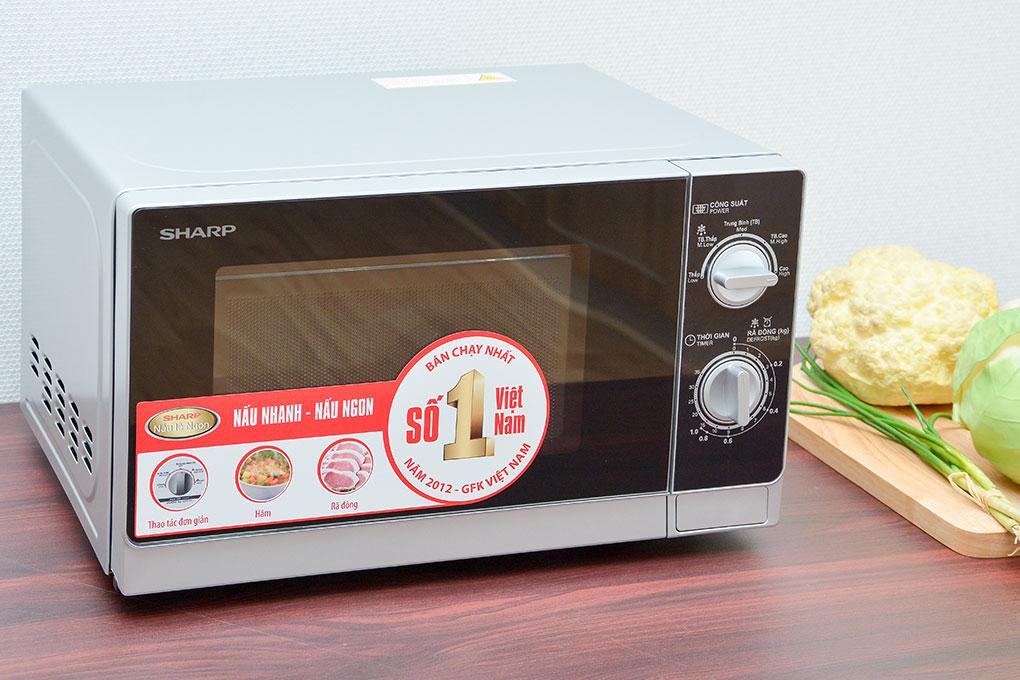 Lò vi sóng Sharp R-205VN(S) 20 lít hình 1