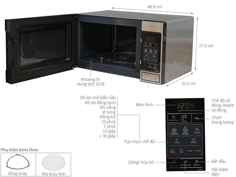 Thông số kỹ thuật Lò vi sóng Samsung ME73M/XSV 20 lít