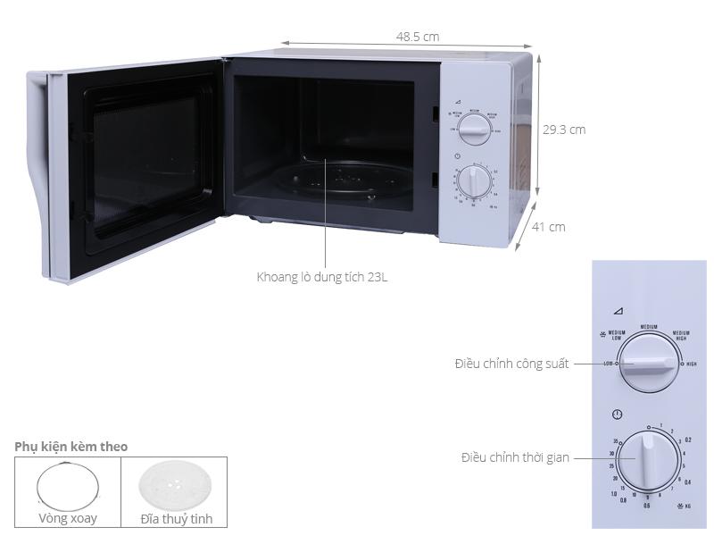 Thông số kỹ thuật Lò vi sóng Electrolux EMM2322MW 23 lít