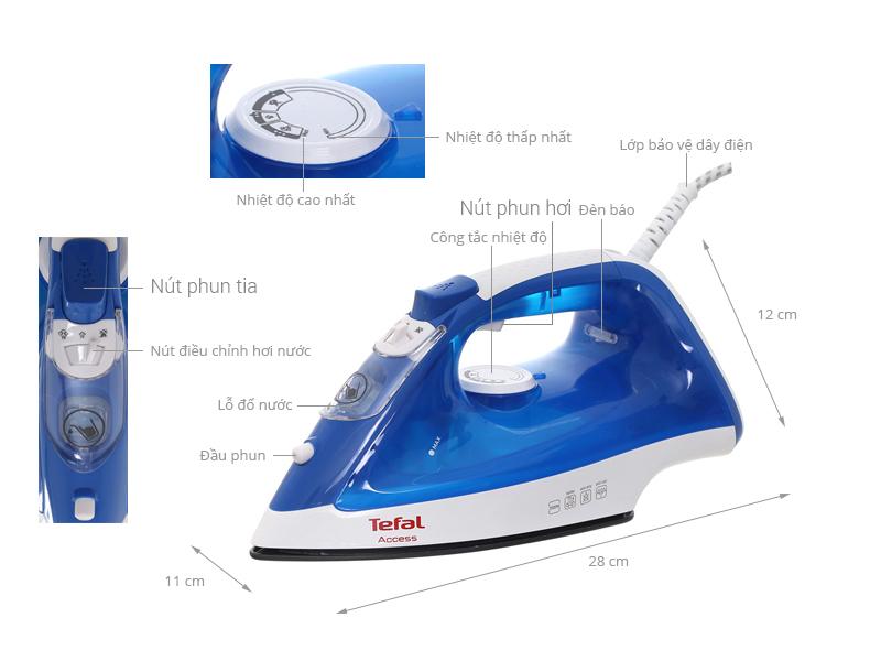 Thông số kỹ thuật Bàn ủi hơi nước Tefal FV1520L0