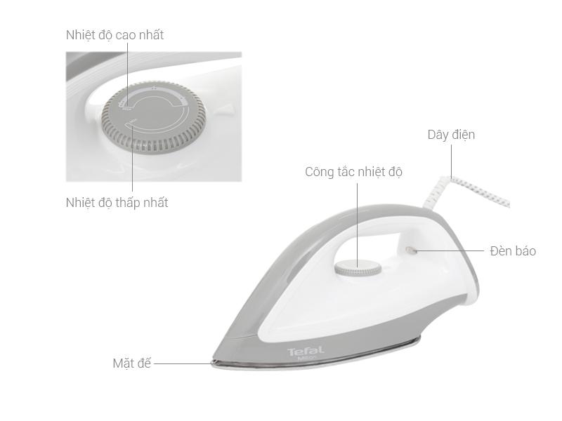 Thông số kỹ thuật Bàn ủi khô Tefal FS2610L0
