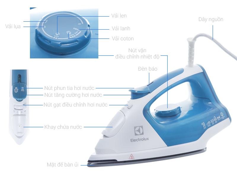 Thông số kỹ thuật Bàn ủi hơi nước Electrolux ESI5126