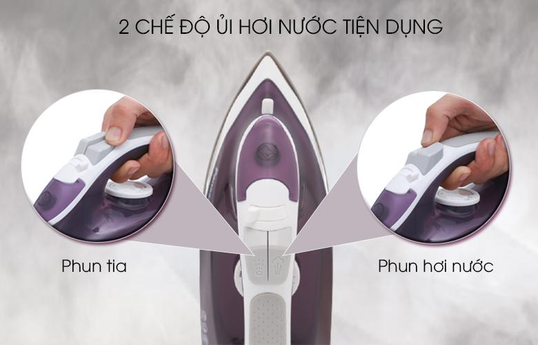 2 chế độ ủi hơi nước - Bàn ủi hơi nước Panasonic NI-M300TVRA