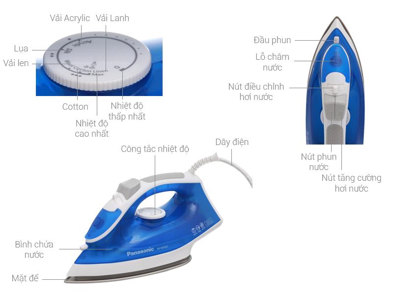 Thông số kỹ thuật Bàn ủi hơi nước Panasonic NI-M300TARA