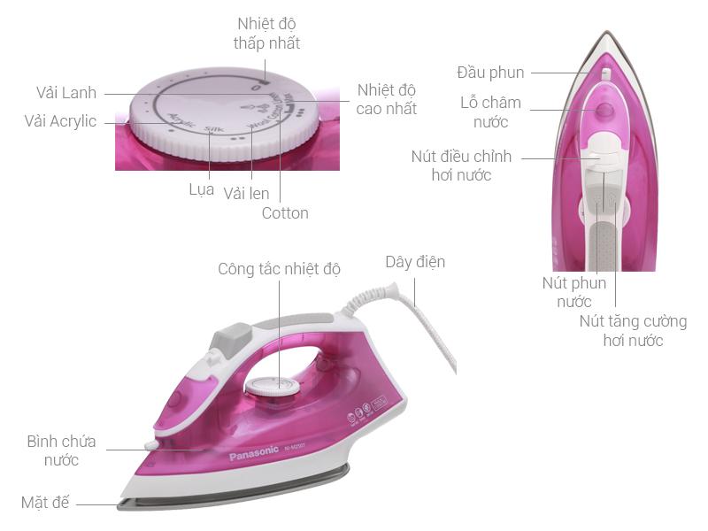 Thông số kỹ thuật Bàn ủi hơi nước Panasonic NI-M250TPRA