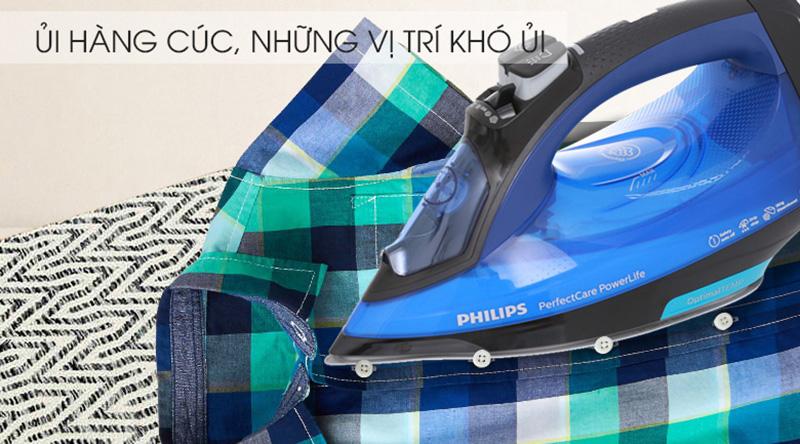 Mũi nhọn, rãnh cúc - Bàn ủi hơi nước Philips GC3920