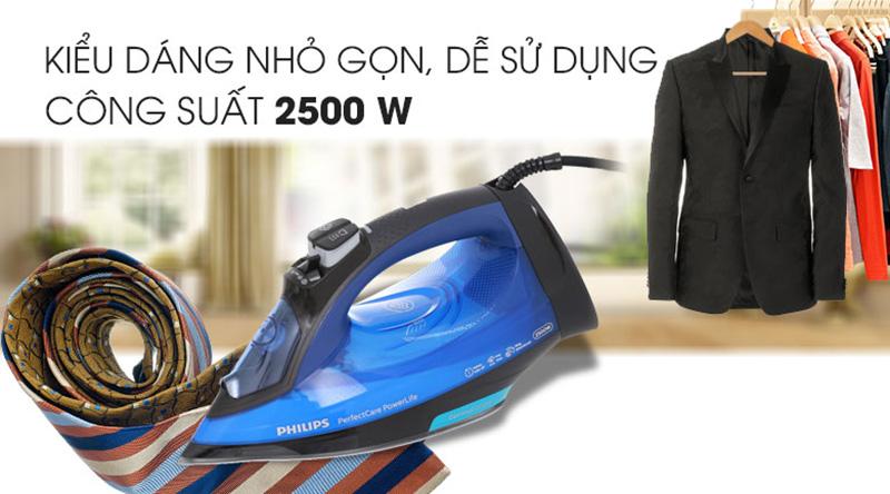 Công suất lớn - Bàn ủi hơi nước Philips GC3920