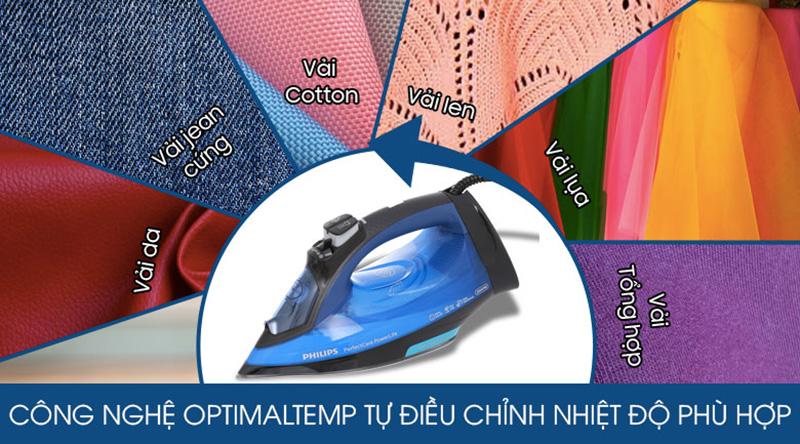Không cần chỉnh nhiệt - Bàn ủi hơi nước Philips GC3920