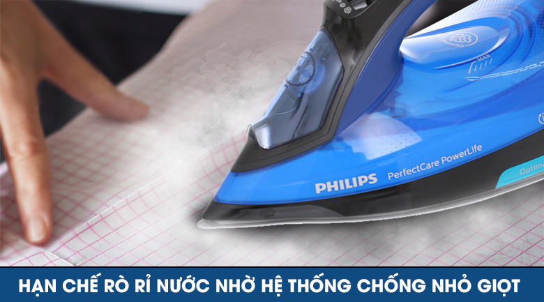 Chống nhỏ giọt - Bàn ủi hơi nước Philips GC3920