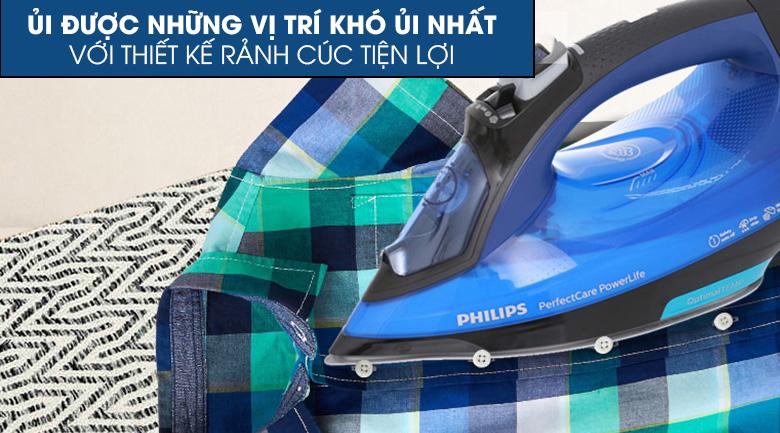 Rãnh cúc tiện lợi - Bàn ủi hơi nước Philips GC3920
