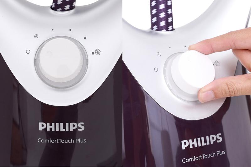 5 mức phun hơi - Bàn là hơi nước đứng Philips GC558