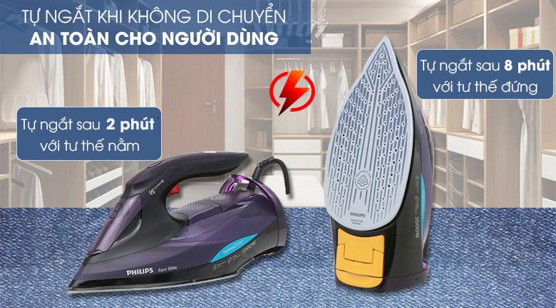 Công nghệ Auto shutoff ngắt điện tự động - Bàn ủi hơi nước Philips GC5039