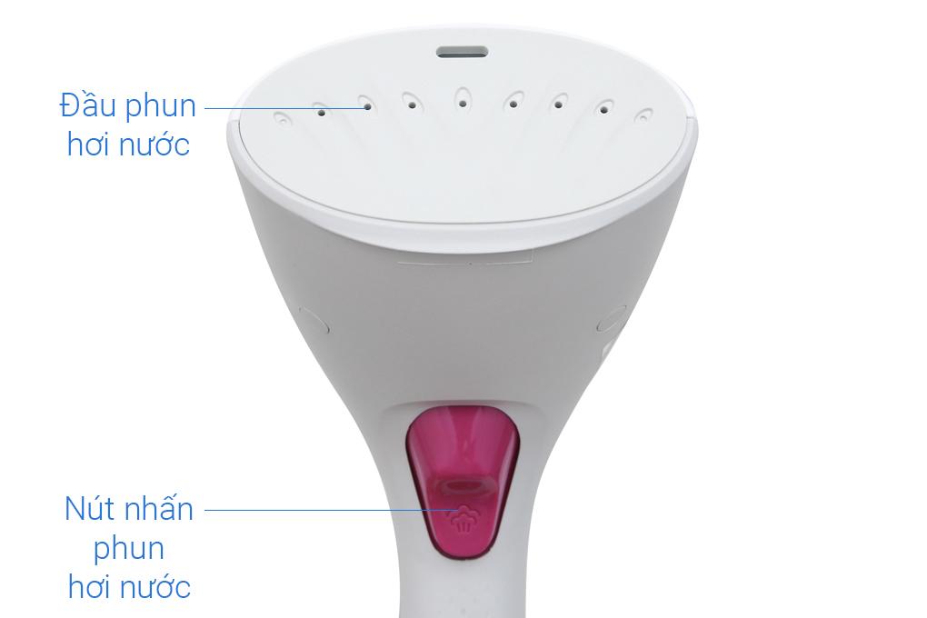 Đầu phun tiết diện lớn cho phạm vi tiếp xúc với mặt vải rộng kết hợp với công suất 1000 W - Bàn ủi hơi nước cầm tay Philips GC350