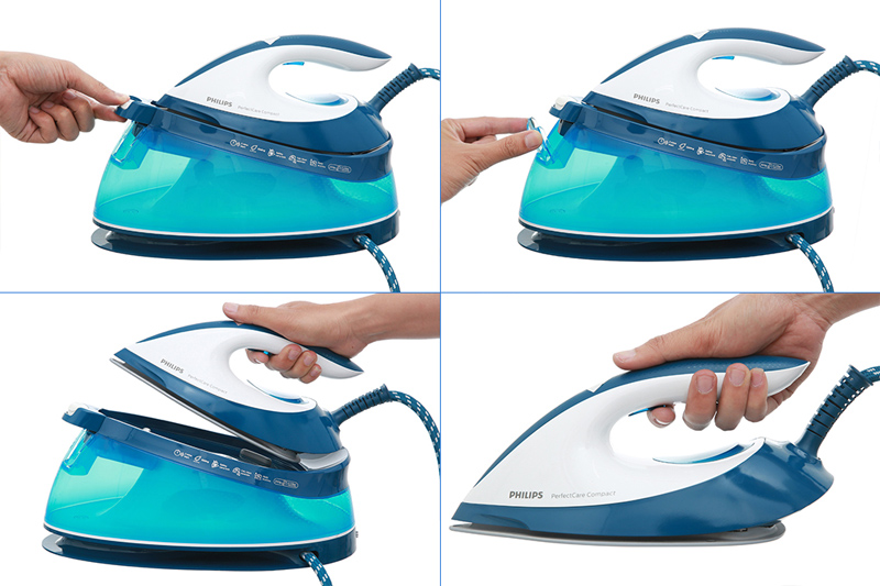 Dễ dùng, dễ châm nước - Bàn ủi hơi nước Philips GC7805