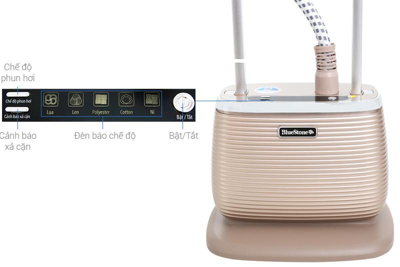 Bảng điều khiển dễ dùng - Bàn là hơi nước đứng Bluestone GSB-3951