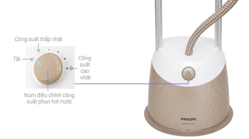 Cài đặt 5 chế độ phun hơi phù hợp với từng loại vải khác nhau - Bàn ủi hơi nước Philips GC523