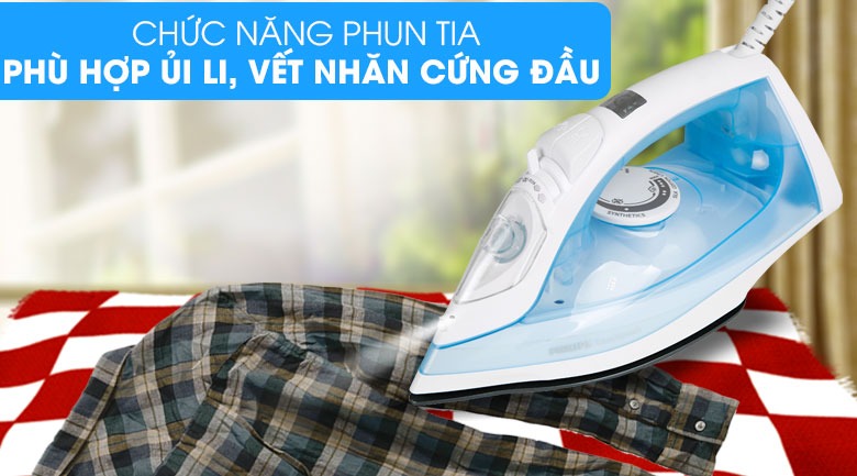 Phun tia - Bàn ủi hơi nước Philips GC1740