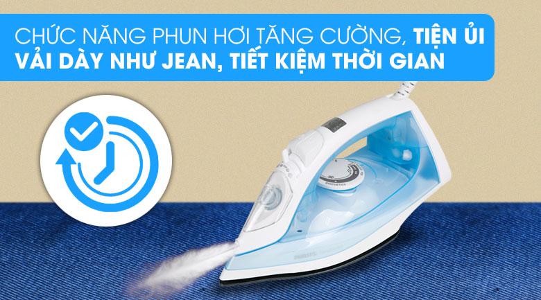 Phun hơi tăng cường - Bàn ủi hơi nước Philips GC1740